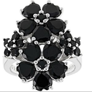 Black spinel sterling silver